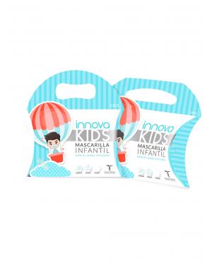 Innova Kids 2 mascarillas de tela infantil niño Tu Cruz Vede