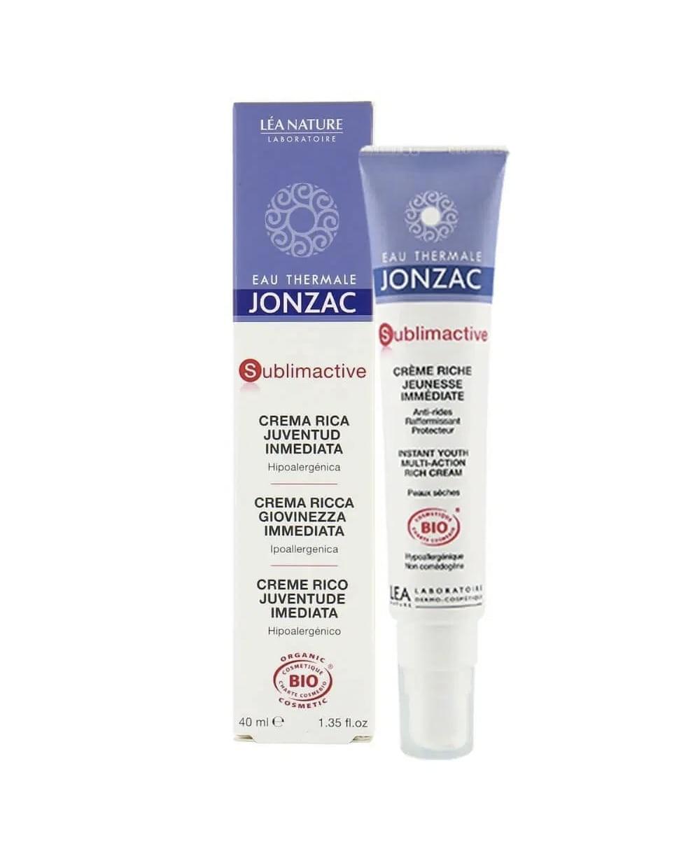 Jonzac Sublimactive Crema Rica Efecto Juventud Inmediata 40 ml Tu Cruz Verde