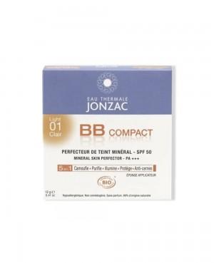 Jonzac Perfection Maquillaje Compacto SPF 50 Tono Claro 01 Tu Cruz Verde