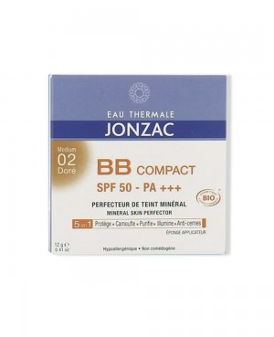 Jonzac Perfection Maquillaje Compacto SPF 50 Tono Medio 02 Tu Cruz Verde