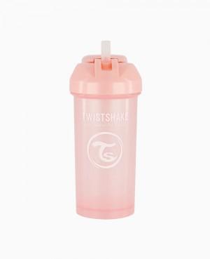 Twistshake Straw Cup 360 ml + 12M Rosa