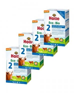Holle Eco Bio 2 Leche De Continuación Pack 4 Unidades